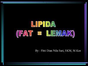 By Fitri Dian Nila Sari SKM M Kes