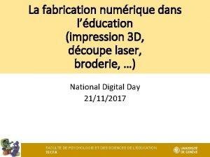 La fabrication numrique dans lducation impression 3 D