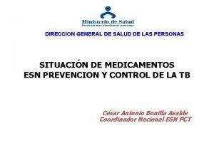 DIRECCION GENERAL DE SALUD DE LAS PERSONAS SITUACIN