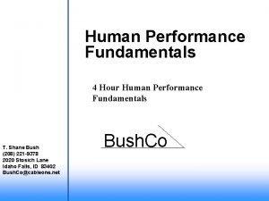 Human Performance Fundamentals 4 Hour Human Performance Fundamentals