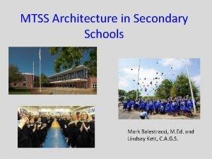 MTSS Architecture in Secondary Schools Mark Balestracci M