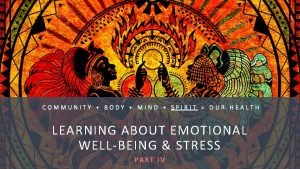 COMMUNITY BODY MIND SPIRIT OUR HEALTH LEARNING ABOUT