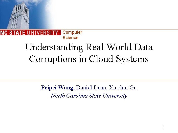 Computer Science Understanding Real World Data Corruptions in