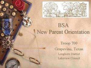 BSA New Parent Orientation Troop 700 Grapevine Texas