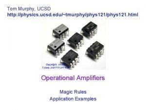 Tom Murphy UCSD http physics ucsd edutmurphyphys 121