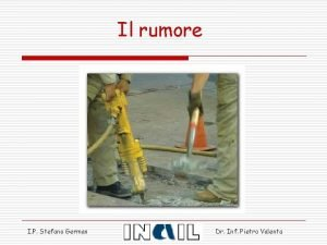 Il rumore I P Stefano German Dr Inf