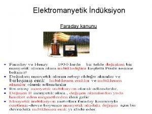 Elektromanyetik ndksiyon Faraday kanunu q ndksiyonun Faraday kanununun
