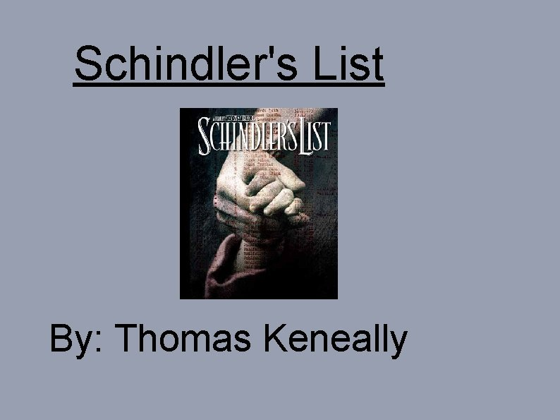 Schindlers List By Thomas Keneally Swastika Is the