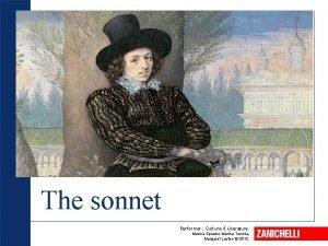 The sonnet Performer Culture Literature Marina Spiazzi Marina