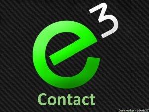 Contact Dave Walker 010117 Mark 5 24 34