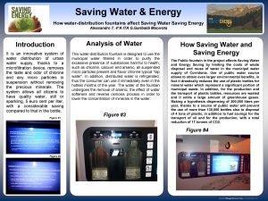 Saving Water Energy How waterdistribution fountains affect Saving