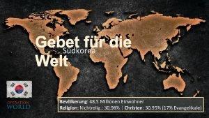 Gebet fr die Sdkorea Welt Bevlkerung 48 5