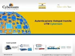 Securing You Autenticazione Hotspot tramite UTM Cyberoam I