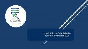 Strateji Gelitirme Daire Bakanl Kontrol Risk Ynetimi2018 Kontrol