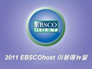 2011 EBSCOhost l Journal Alert Journal Alert My