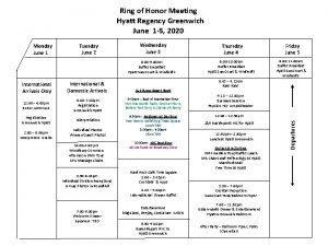 Ring of Honor Meeting Hyatt Regency Greenwich June