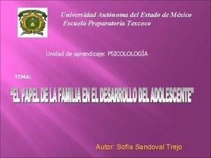 Universidad Autnoma del Estado de Mxico Escuela Preparatoria