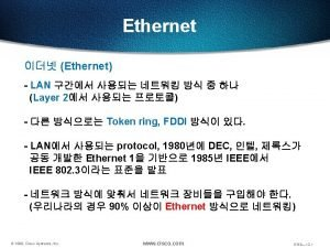 Ethernet CSMACD Ethernet CSMACD Ethernet Frame fullduplex halfduplex