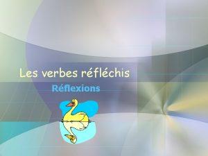 Les verbes rflchis Rflexions Questce quil fait Il