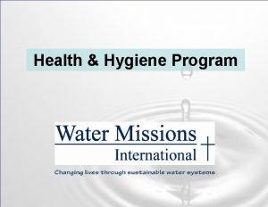Health Hygiene Program Health Hygiene Program 80 of