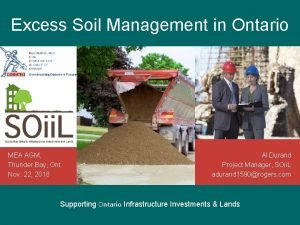 Excess Soil Management in Ontario MEA AGM Thunder