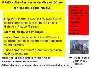 PPMS Plan Particulier de Mise en Sret en