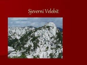 Sjeverni Velebit Openito Nacionalni park Sjeverni Velebit proglaen