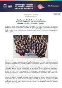 COMMUNIQU DE PRESSE Manifeste Inclusion Communiqu de presse