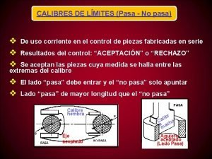 CALIBRES DE LMITES Pasa No pasa v v