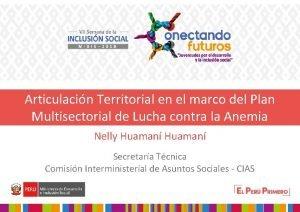 Articulacin Territorial en el marco del Plan Multisectorial