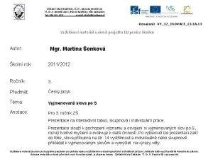 Zkladn kola Sobslav t Dr Edvarda Benee 50