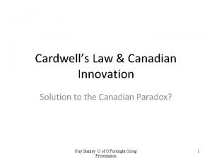 Cardwells Law Canadian Innovation Solution to the Canadian
