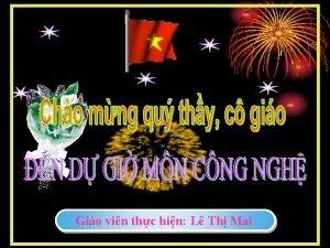 Gio vin thc hin L Th Mai KIMCu