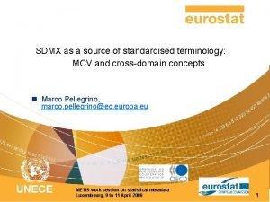 SDMX as a source of standardised terminology MCV