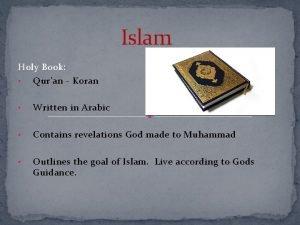 Islam Holy Book Quran Koran Written in Arabic