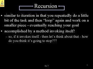 Recursion similar to iteration in that you repeatedly