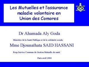 Les Mutuelles et lassurance maladie volontaire en Union