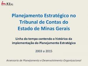 Planejamento Estratgico no Tribunal de Contas do Estado