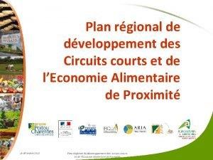 Plan rgional de dveloppement des Circuits courts et