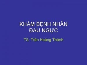 KHM BNH NH N AU NGC TS Trn