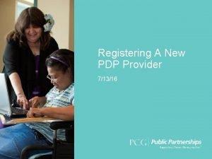Registering A New PDP Provider 71316 Click Provider