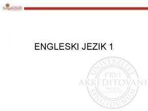 ENGLESKI JEZIK 1 Engleski jezik 1 Udbenik Pioneer