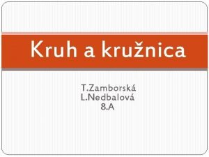 Kruh a krunica T Zamborsk L Nedbalov 8