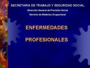 SECRETARIA DE TRABAJO Y SEGURIDAD SOCIAL Direccin General