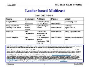 doc IEEE 802 11 070115 r 2 Mar