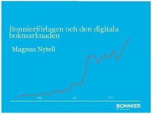Bonnierfrlagen och den digitala bokmarknaden Bonniers syn p