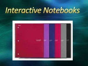 Interactive Notebooks Kristi Neuroth kristi neurothwcs edu AP
