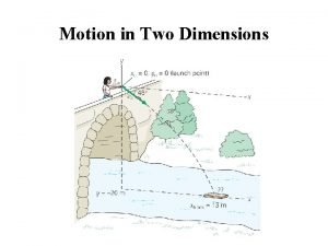 Motion in Two Dimensions Projectile Motion A projectile