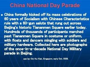 China National Day Parade n China formally kicked
