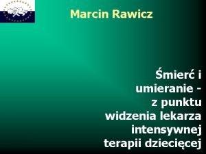 Marcin Rawicz mier i umieranie z punktu widzenia